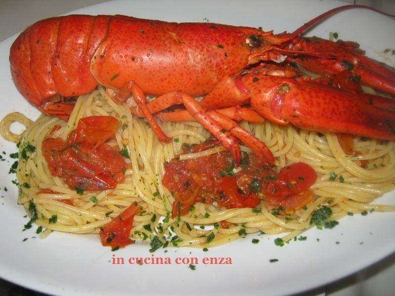 Spaghetti All Astice In Cucina Con Enza